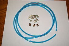1/8' ID BLUE VENT PRIMER HOSE FUEL LINE CARBURETOR + CLAMPS