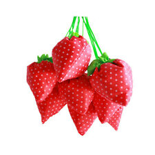 5X Strawberry Foldable Eco-friendly Bag Reusable Shopping Tote Shoulder Purse BL