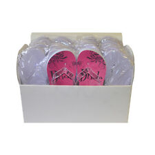 Box of 14 Plain White Dancing Flip Flops plus FREE SPECIAL PAIR for the Bride