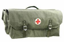 SWEDISH BICYCLE RED CROSS SADDLE BAG HEAVY WEIGHT. VINTAGE BICYCLE SADDLE BAG.