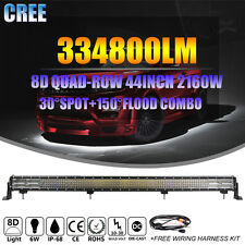 44INCH 2160W 8D QUAD-ROW CREE LED LIGHT BAR SPOT FLOOD COMBO WORK LAMP 4X4WD SUV