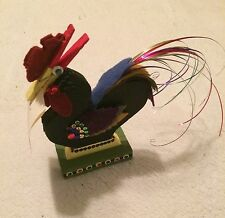 Hand made Rooster Folk Art Primitive Clothespin Note Recipe Card Holder NEW