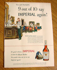 1948 Imperial Hiram Walker Whiskey Ad 9 out of 10 Say