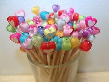 40 Red Pink Purple Valentines Day Hearts Toothpicks Wedding Party Picks Cakes