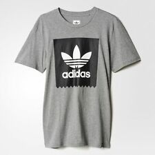 Adidas Solid Logo Fill T-Shirt Grey Black White Sz Medium AB3198
