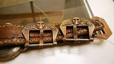 Bronze watch buckle,26mm .Scull&Rose,Flottiglia MAS,sandblasted ,with patina
