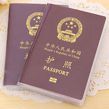 Reisepass Etui Schutzhülle Pass Hülle Passport Cover Holder Transparent/Schrubbe