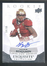 2013 Exquisite Draft Picks Kelvin Benjamin On Card Autograph #54/99 FLORIDA ST.