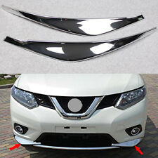Chrome Front Bumper Corner Edge Guard Cover Trim For Nissan Rogue Xtrail 2014-16