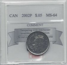 **2002P**, Coin Mart Graded Canadian,  5 Cent, **MS-64**