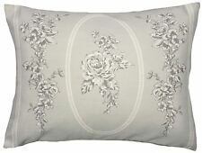FLORAL TOILE TRAILING LEAF GREY 30X40CM CUSHION COVER TO MATCH DUVET