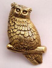 Owl Solid Brass Vintage 1978 Baron Belt Buckle
