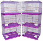 Lot of 6 Aviary Breeding Breeder Bird Cages 24x16x16--2425 Lavender-730