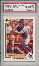 Lot of (5) Ivan Rodriguez 1991 Upper Deck #55F Rookie Card rC PSA 10 Gem Mint
