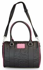 Hello Kitty Sanrio Black/Pink Embossed Duffle/Handbag by Loungefly-SALE!