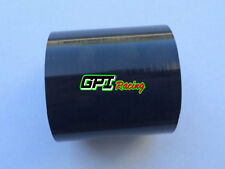 "Silicone 3"" Inch 76mm Straight Hose Joiner Intake Intercooler Couple pipe BLACK"