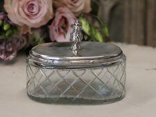 Chic Antique Glasdose mit Deckel Schatulle Shabby Vintage