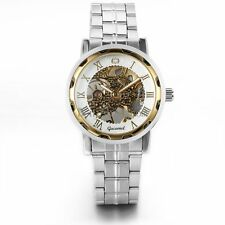 Men's Skeleton Wrist Watch Hand-winding Mechanical Luxury Stainless Steel Sport