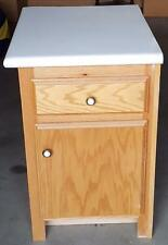 Nice Salvaged Wood Finish Bathroom Vanity - Fabricated Top with Bullnose Edge