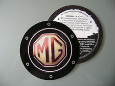 Magnetic Tax disc holder fits any mg ie tf mgf zr zt convertible midget mgb