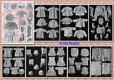 100+ RARE Vintage 1920's ~ BABY Crochet & Knitting PATTERNS on cd
