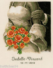 Vervaco Wedding  Sampler Cross Stitch Kit Wedding Bouquet