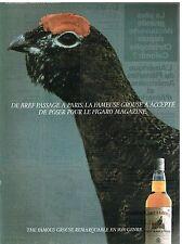 Publicité Advertising 1987 Scotch Whisky The Famous Grouse