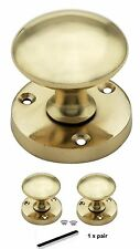 BRASS QUALITY MORTICE DOOR KNOBS sprund door handl50mm Round Rose Pair