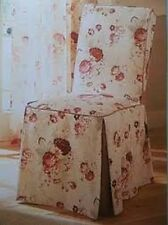 Waverly Vintage Rose Garden Room Dinning Chair Cover(s) Gingham Trim  New Rare
