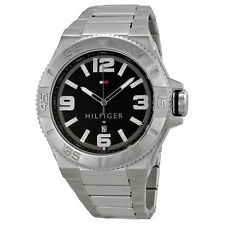 Tommy Hilfiger Black Dial Stainless Steel Mens Watch 1791038