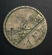 Love Token on 1882 Seated Liberty Dime  Wonderful  Example  I E T  House Ocean