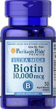 BIOTINE 10000 MCG. 50 CAPSULES  la santé des cheveux, de la peau et des ongles