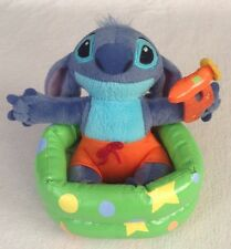 "Disney Store Stitch 6"" Kiddie Pool Stuffed Plush w Swim Trunks & Water Gun Lilo"