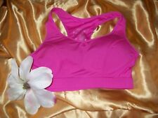 Atmosphere bright pink non-wired padded full cup workout sports bra 10/12 BNWOT