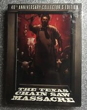 The Texas Chainsaw Massacre (Blu-ray/DVD, 2014, 4-Discs, 40th Anniversary) NEW