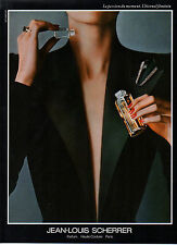 Publicité Advertising 1987  Parfum JEAN LOUIS SCHERRER haute couture