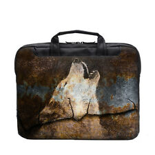 "TaylorHe 15.6"" 15"" Laptop Shoulder Bag Carry Case Handles Strap Rusted Wolf"