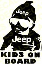 KIDS ON BOARD Car Truck Window Vinyl Decal Sticker for JEEP DODGE RAM BABY
