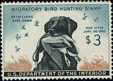 RW#26 1959 $3 DUCK STAMP (BLACK LAB) MINT-OG/DG