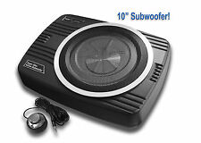 TightBass 10-inch Slim Under Seat Active Powered Subwoofer w/ FREE 5m RCA Cable