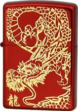 Zippo Rampage Dragon Kanji Etching Gold Red Ion Coating Japan Limited F/S Cool