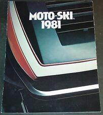 1981 MOTO-SKI SUPER SONIC & MORE SNOWMOBILE SALES BROCHURE 6 PAGES   (1189)