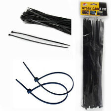 40pcs Plastic Nylon Cable Ties Zip Wire 300MM Size Fastening Strap Black DIY Tie