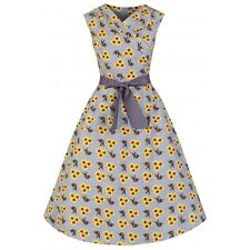 NEW VINTAGE 50'S STYLE STEPHANIE SUNFLOWER SWING JIVE PARTY DRESS SIZE 26