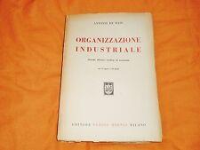 ANTONIO DE MAJO ORGANIZZAZIONE INDUSTRIALE HOEPLI 1945