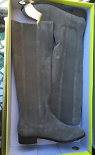 Very Volatile TIMBER Taupe Beige Tan Suede Knee High Boots 7 * NEW !
