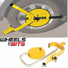 "CAR VAN WHEEL 13"" TO 15"" INCH STEEL CLAMP ADJUSTABLE SAFETY LOCK CARAVAN TRAILER"