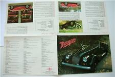 An Old Car Sales Brochure/Poster For The Morgan 4/4 2 and 4 seater Sports Car.