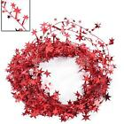 Vintage Red Glitter Star Wire Foil Tinsel Garland Christmas Party Decor