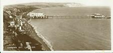 Vintage Sepia Postcard of Sandown Bay Isle of Wight-Posted 1938